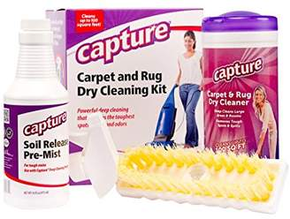 Capture Carpet Dry Cleaning Kit 100 - Resolve Allergens Stain Smell Moisture from Rug Furniture Clothes and Fabric