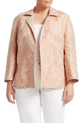Lafayette 148 New York Lafayette 148 New York, Plus Size Phillipe Open Front Jacket