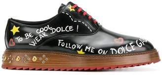 Dolce & Gabbana Marsala Line Oxford shoes