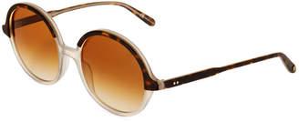 Garrett Leight Nowita 53 Round Acetate Sunglasses
