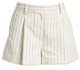 Rag & Bone Rag& Bone Women's Millie Pinstripe Cotton Shorts - Ivory Black - Size 00