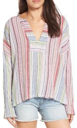 Women's Velvet By Graham & Spencer Metallic Stripe Tunic $147 thestylecure.com