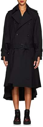 Comme des Garcons Junya Watanabe Women's Pleated Wool-Blend Trench Coat
