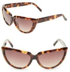 Linda Farrow 63MM Tortoise Shell Cat Eye Sunglasses