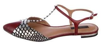 Rachel Zoe Metallic Cap-Toe Flats
