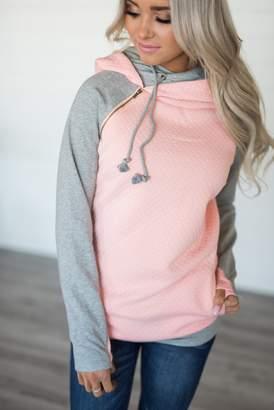 Ampersand Avenue DoubleHood Sweatshirt - Quilted Peach