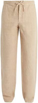 120% Lino 120 LINO Straight-leg drawstring-waist linen trousers