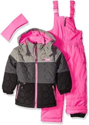 Pink Platinum Little Girls' Circle Quilted Better Snowsuit