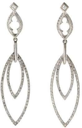 Loree Rodkin 18K Diamond Double Drop Earrings