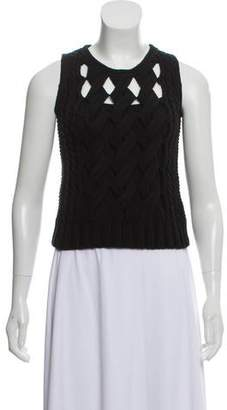 Timo Weiland Sleeveless Cable Knit Sweater
