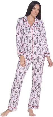 Beauty Sleep By Bedhead Beauty Sleep by BedHead Cotton Stretch Notch Collar Pajama Set