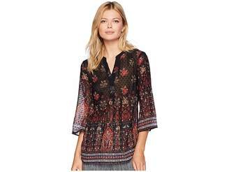 Tribal 3/4 Sleeve Blouse