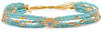 Chan Luu - Gold-plated Turquoise Bracelet - One size $180 thestylecure.com