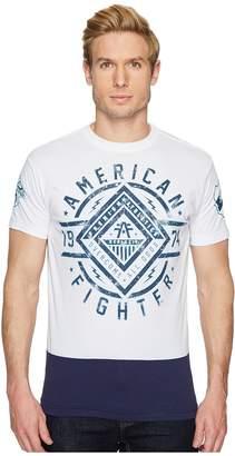 American Fighter Birchwood Short Sleeve Panel Tee Men's T Shirt