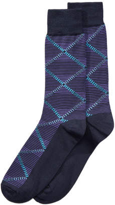 Perry Ellis Men's Diamond-Print Dress Socks