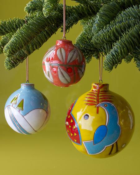 Ceramic Ball Christmas Ornaments