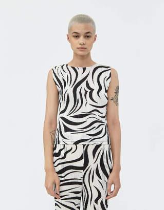 Pleats Please Issey Miyake Zebra Printed Tank