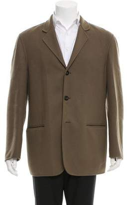 Giorgio Armani Wool Notch-Lapel Jacket