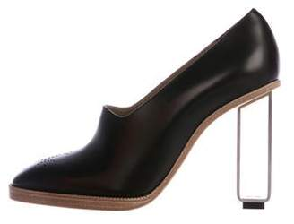 Hermes Leather Loafer Pumps w/ Tags