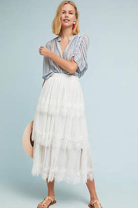 Eri + Ali Dartmoor Tiered Maxi Skirt