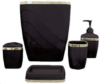 Carnation Home Fashions 5-Piece Plastic Bath Accessory Set
