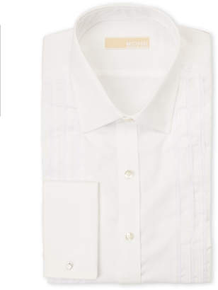 MICHAEL Michael Kors White Regular Fit Pleated Dress Shirt