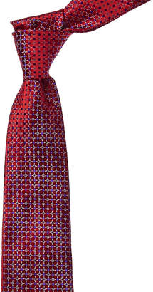 Canali Red And Purple Dot Silk Tie