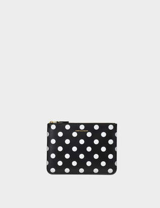 Comme des Garcons Dots Printed Leather linene zipped pouch