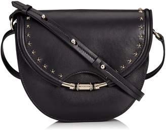 Jimmy Choo CHRISSY Black Nappa Leather Cross Body Bag with Star Studs
