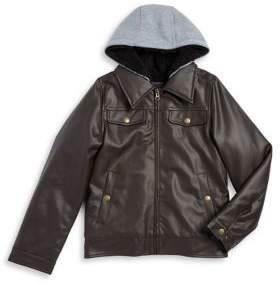 London Fog Boy's Faux-Fur Trimmed Jacket