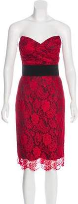 Dolce & Gabbana Lace Strapless Dress