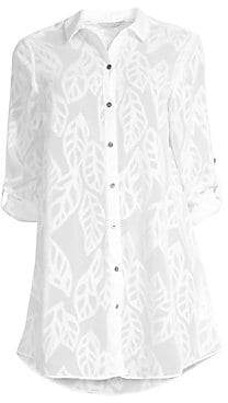 Lilly Pulitzer Women's Natalie Embroidered Leaf Coverup