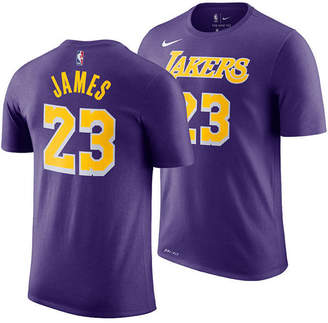 Nike LeBron James Los Angeles Lakers Statement Name and Number T-Shirt, Big Boys (8-20)