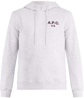 A.P.C. US Star and logo-print hooded sweatshirt