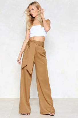 Nasty Gal Wide of the Mark High-Waisted Pants