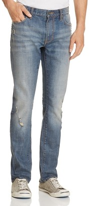 John Varvatos Star USA Bowery Slim Straight Fit Jeans in Glacier Blue $198 thestylecure.com