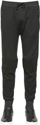 Dolce & Gabbana Stretch Wool Blend Biker Jogging Pants