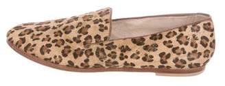 Matt Bernson Ponyhair Round-Toe Loafers