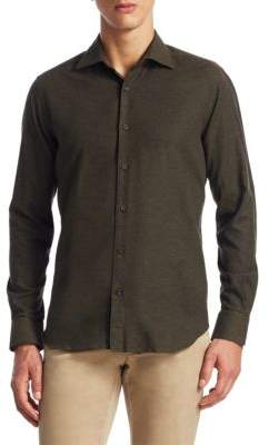 Saks Fifth Avenue COLLECTION Cotton Button-Down Shirt