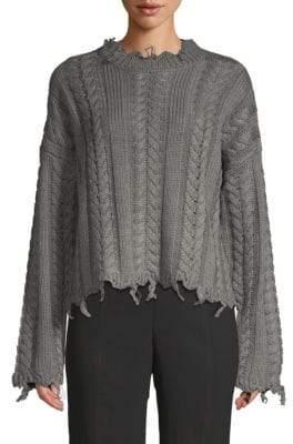 Moon River Fray Twist Sweater