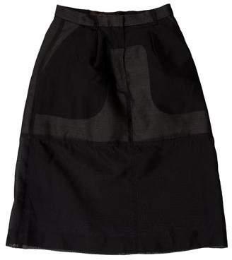 Louis Vuitton Silk Overlay Skirt