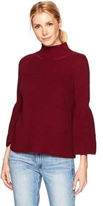 525 America Women's Shaker Crop Mock Neck Tulip Sleeve
