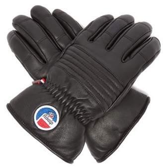 Fusalp - Leather Ski Gloves - Mens - Black White