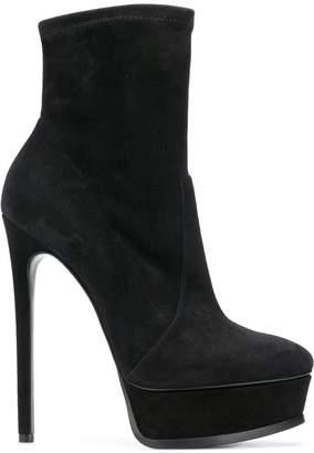 Casadei platform ankle boots