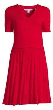 Draper James Sailor Bow Knit Dress