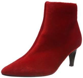 af63cb64ee7 Lost Ink Women s Jolie Clean Kitten Heel Boot Ankle (Red 0055)