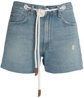 Rag & Bone Belted Distressed Denim Shorts