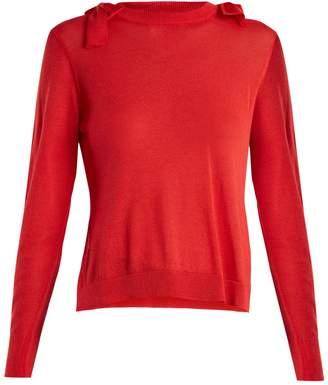 Simone Rocha Bow-detail fine-knit sweater