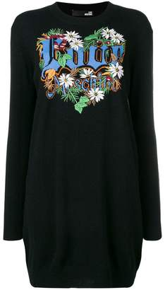 Love Moschino love patchwork loose dress
