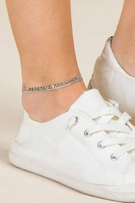 francesca's Sabine Silver Layered Chain Anklet - Silver